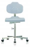 Inox stoelen met mechanische hoogteverstelling