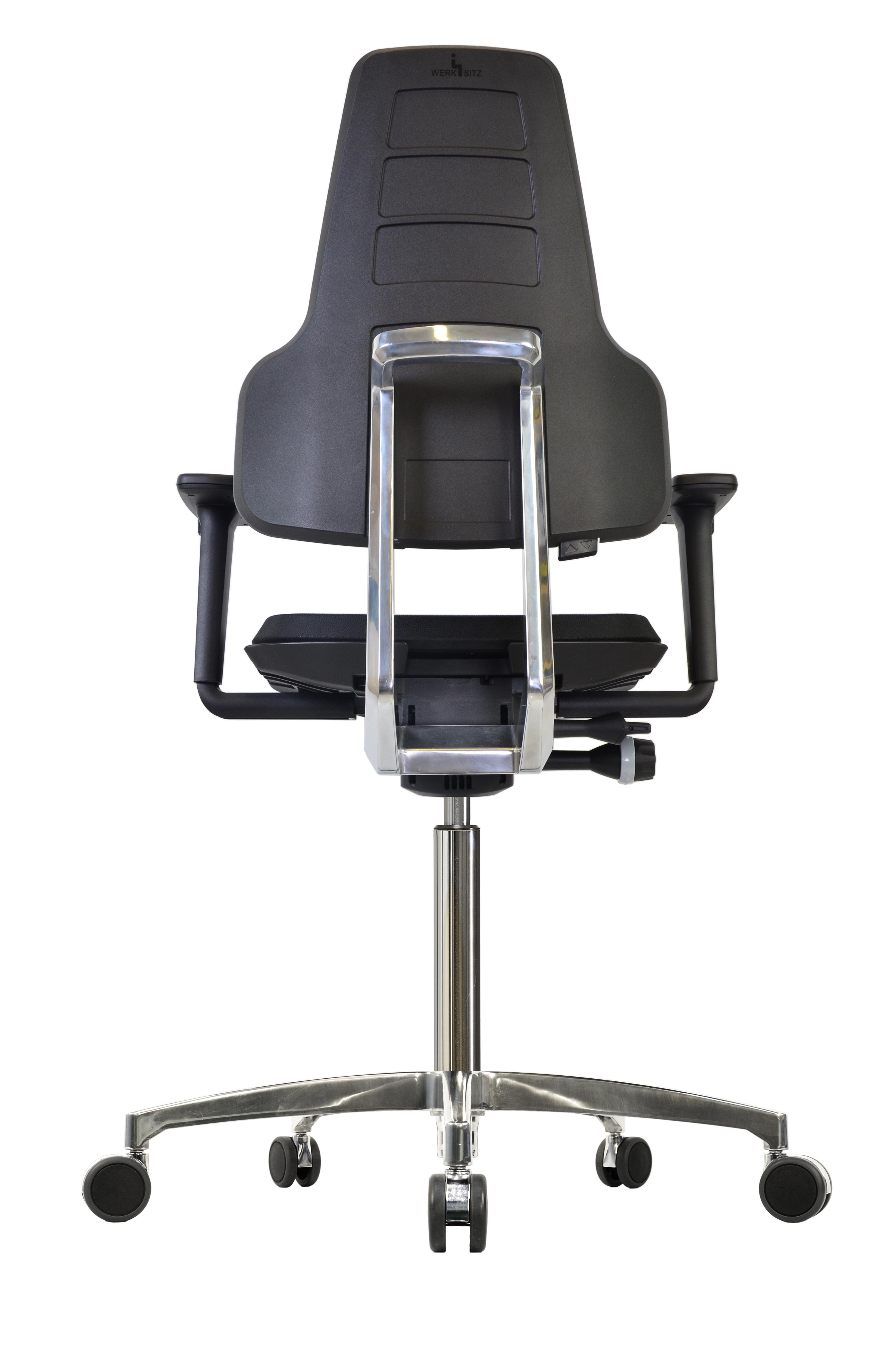 Werkstar ergonomische werkstoel op wielen in PUR